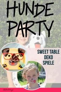 Eine Hundeparty zum Kindergeburtstag ist super lustig! Hier findest du Ideen für Deko, Sweet Table und ganz viele Partyspiele! + gratis Party-Planer als Download!  #ribiselchen #hundeparty #kindergeburtstag #kinderparty #partyspiele