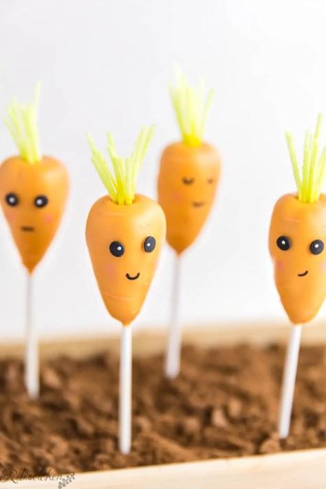Lächelnder Karotten Cake Pop
