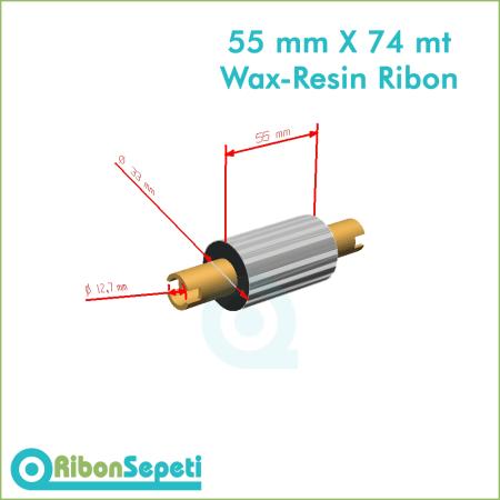 55 mm X 74 mt Wax-Resin Ribon Fiyatı (Online Satın Al)