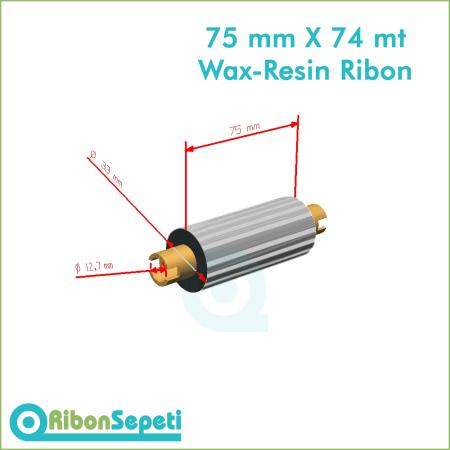75 mm X 74 mt Wax-Resin Ribon Fiyatı (Online Satın Al)