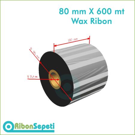 80 mm X 600 mt Wax Ribon (Online Satın Al)