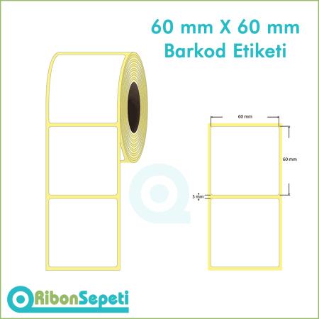 60x60 mm Boş (Beyaz) Etiket