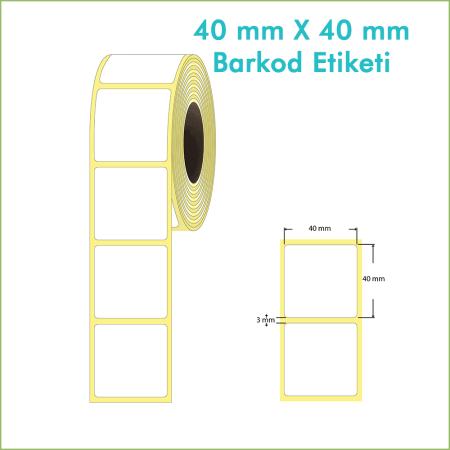 40x40 mm Boş (Beyaz, Hazır Sticker) Etiket