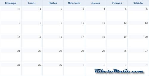 Mi calendario PHP y Jquery