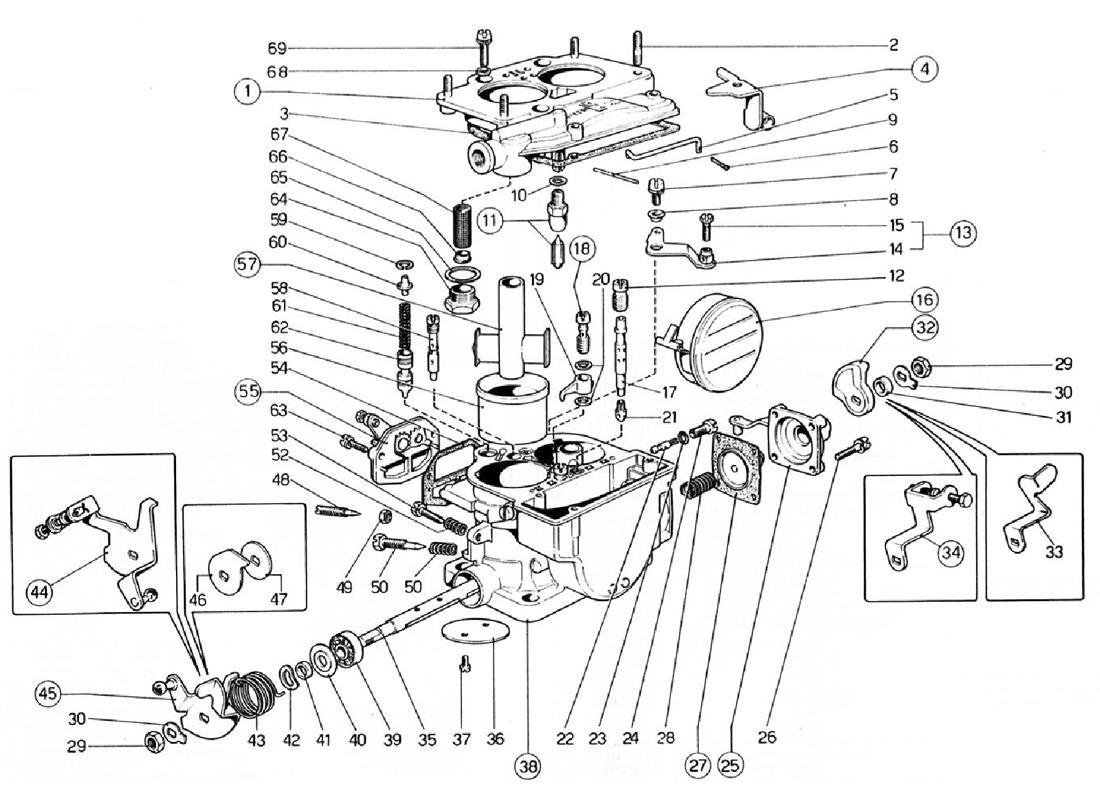 Ferrari 308 Gtb Carburetors Weber 40 Dcnf 57