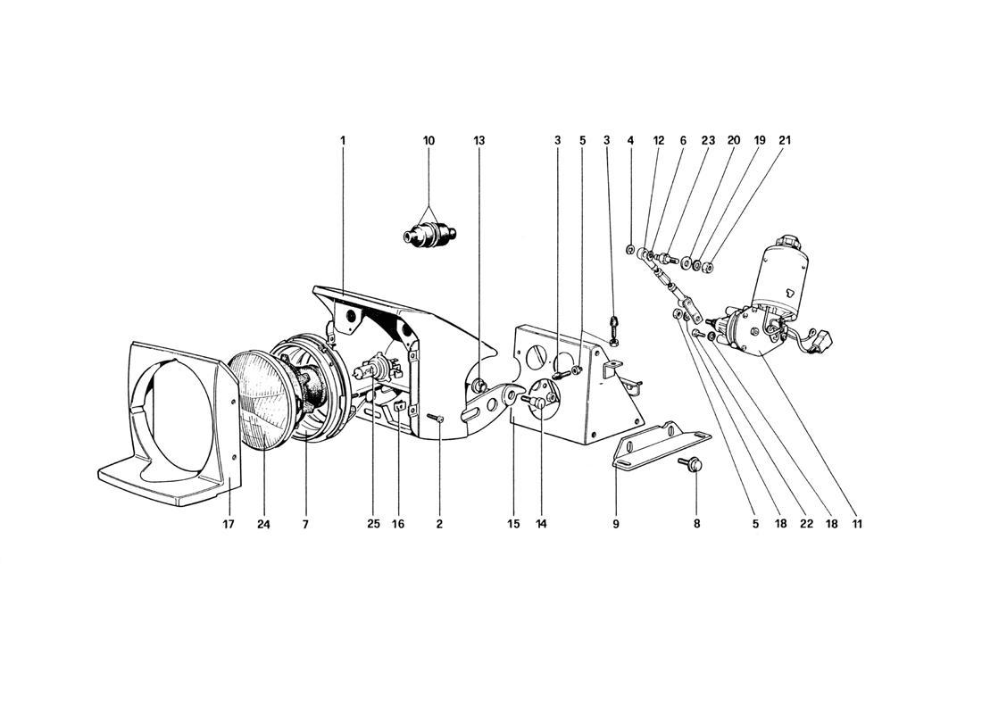 Ferrari 328 Lights Lifting Device And Headlights