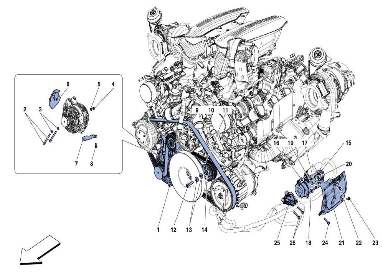 Ferrari 488 Gtb Alternator Starter Motor