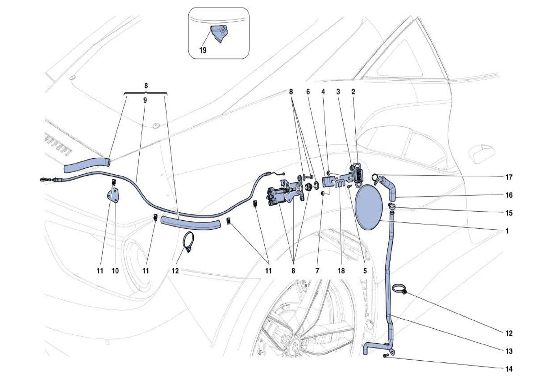 Ferrari 488 Gtb Fuel Filler Door And Controls