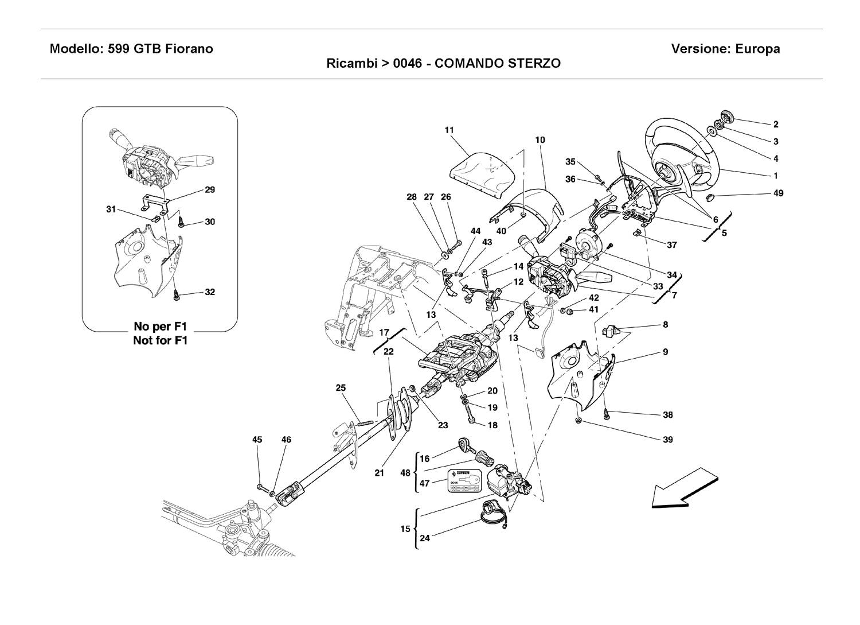Ferrari 599 Steering Column