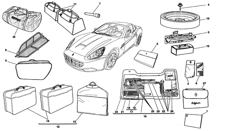 Ferrari California 09 Accessories Provided