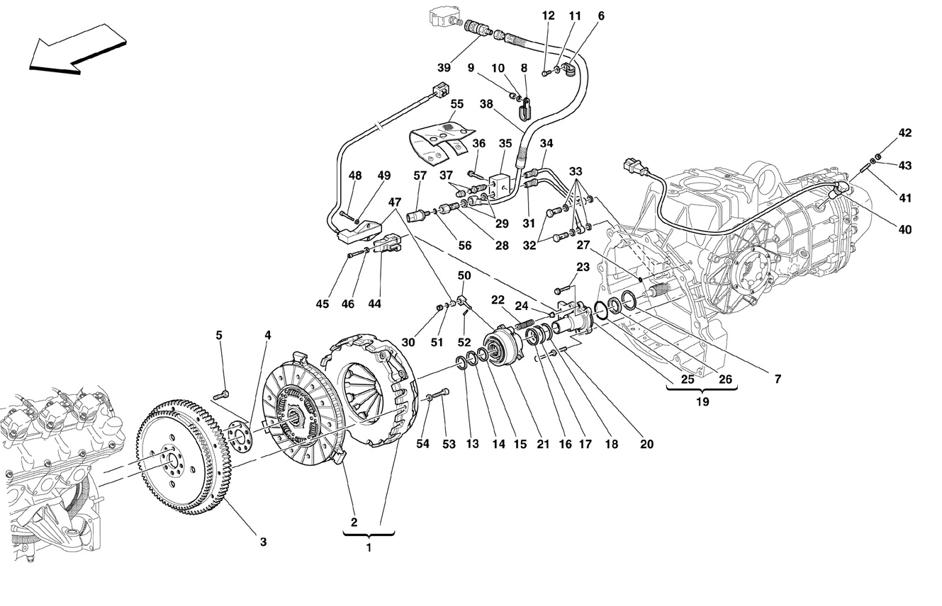 Ferrari F430 05 08 Clutch And Controls Valid For F1