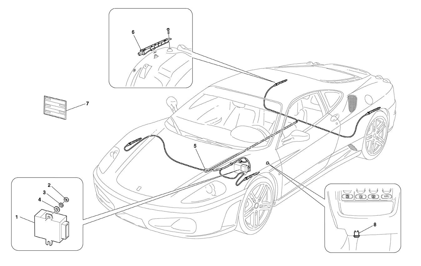 Ferrari F430 05 08 Tyres Pressure Control System