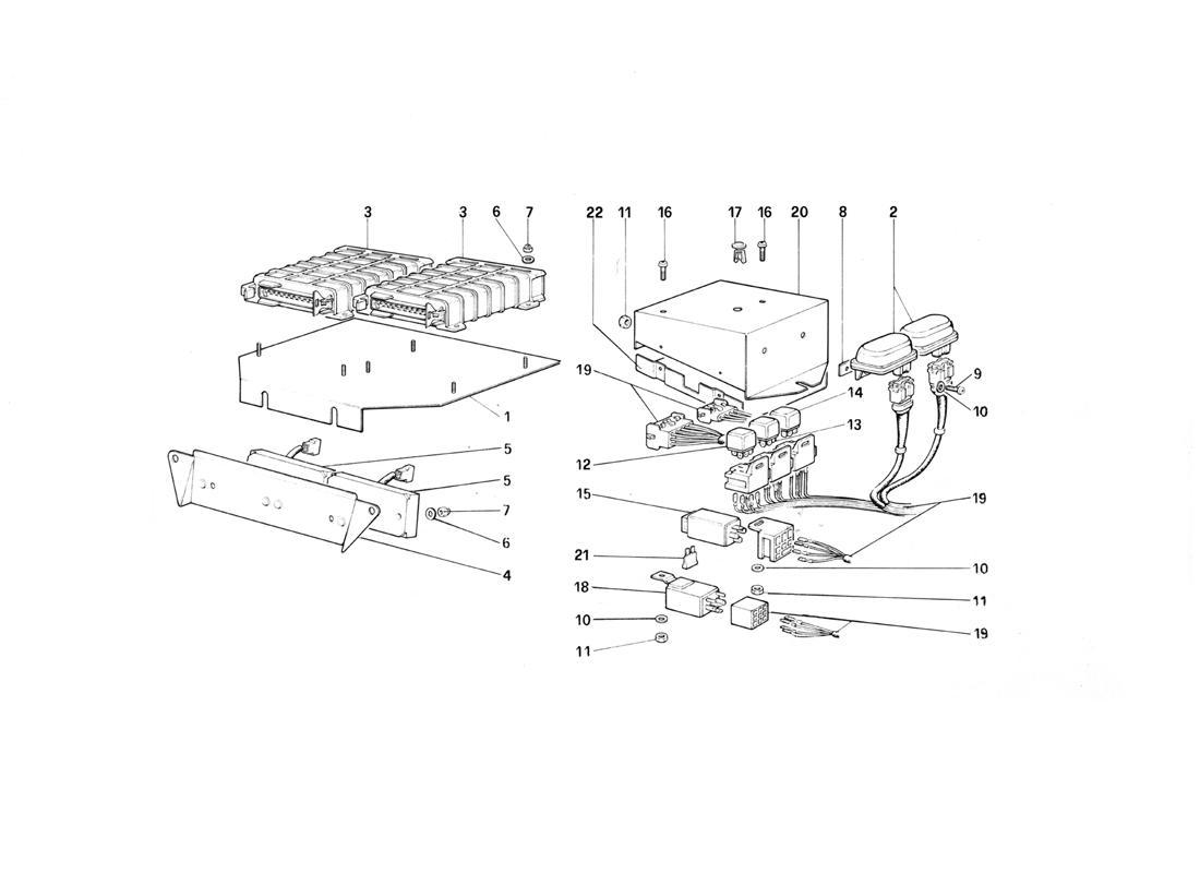 Ferrari Testarossa Electric Controls For Ke