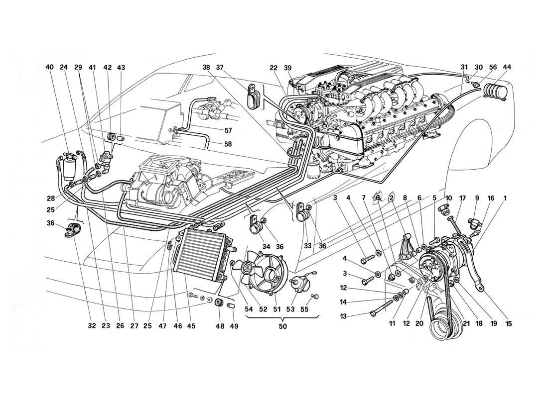 Ferrari Testarossa Air Conditioning System