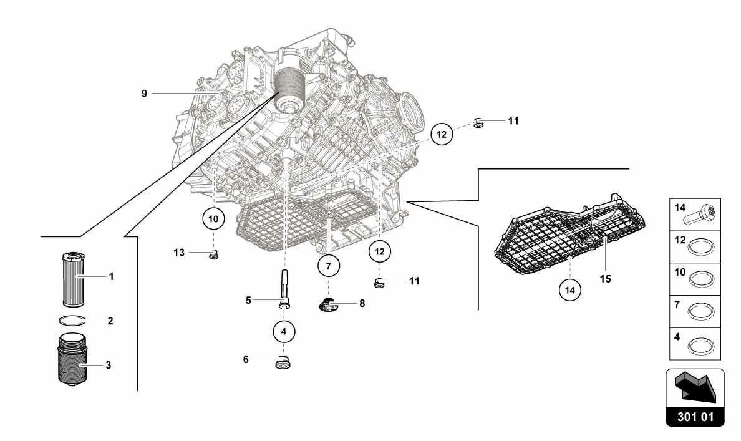 Lamborghini Huracan Lp610 4 Usa Gearbox Oil Filter