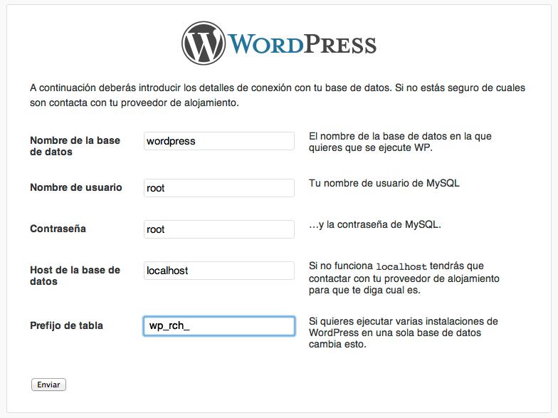 Instalación de WordPress