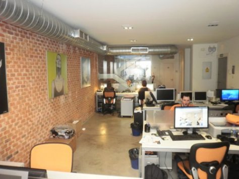 Foto sala diáfana de trabajo ACTIVOLUTION