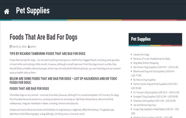 Foods That Are Bad For Dogs-Ricardo Tamborini no Pet Supplies