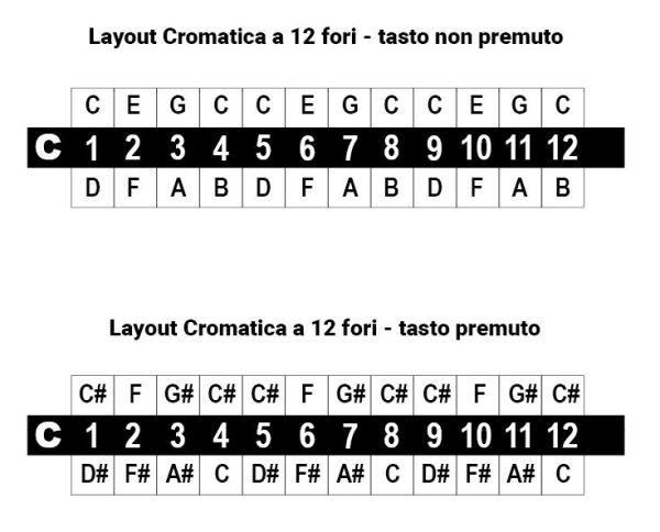 layout cromatica 12 fori