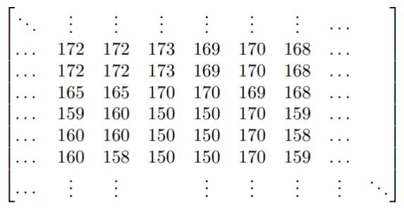 Rappresentazione matriciale di una immagine