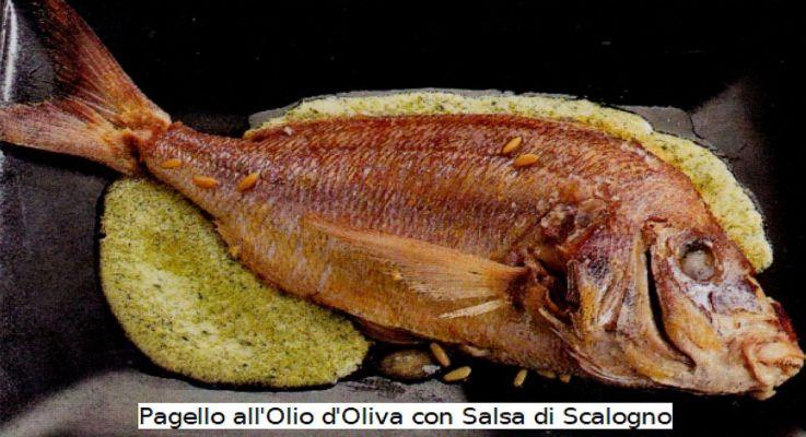 Ricetta di Cucina Pagello all'Olio con Salsa di Scalogno