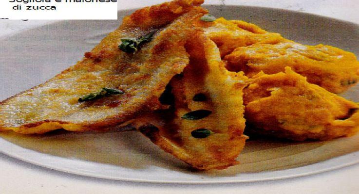 Ricetta di Cucina Sogliola e maionese di zucca