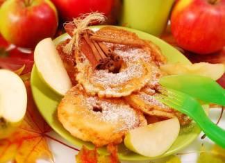 frittelle di mele alla cannella