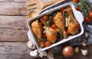 Cosce di Pollo con Cipolle