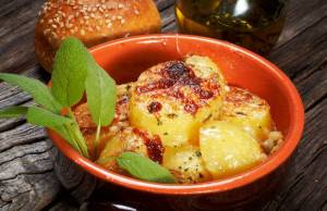 patate gratinate alla salvia