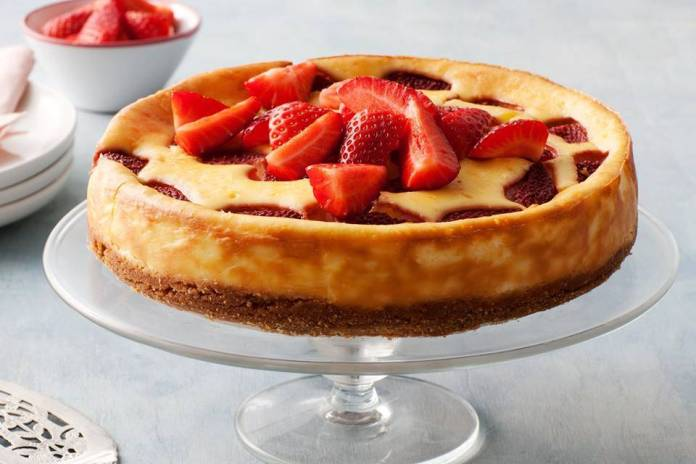 Cheesecake alle Fragole Cotta al Forno