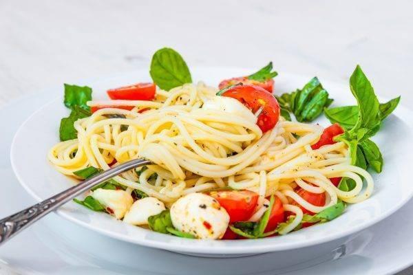 Spaghetti alla caprese light
