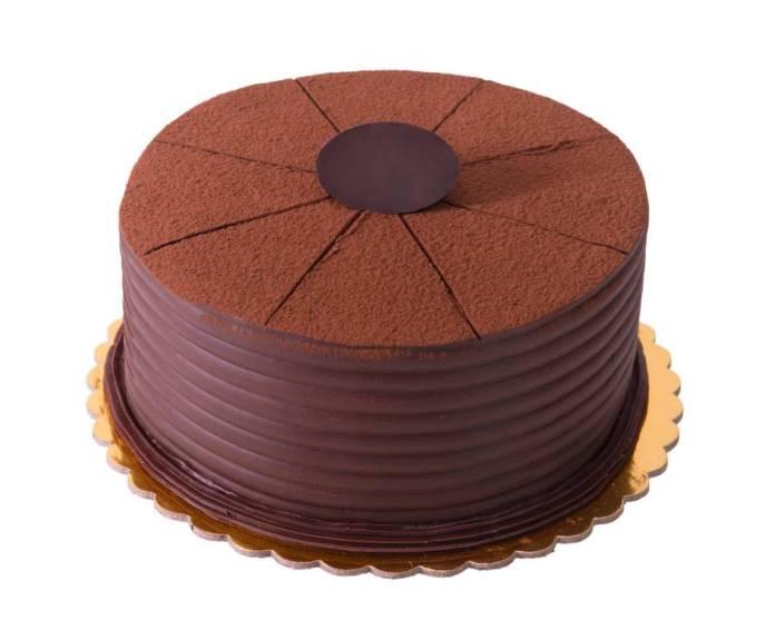 Chiffon cake al cioccolato con crema al pistacchio