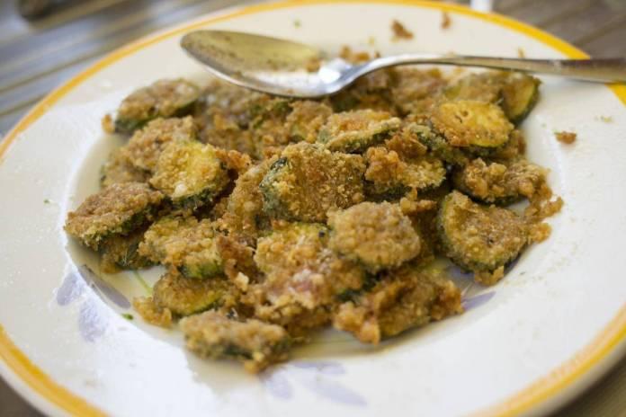 zucchine grigliate, impanate