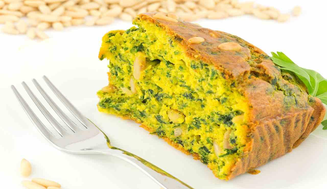 Plumcake di ricotta spinaci e zafferano