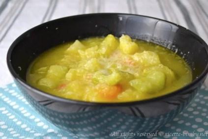Zuppa di patate e zucchine bimby 1