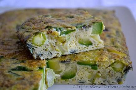 Frittata di asparagi e zucchine bimby 4