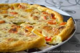 Torta salata ai peperoni bimby