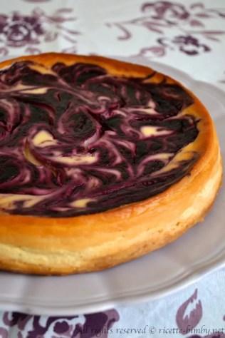 Cheesecake marmorizzata ai frutti di bosco bimby