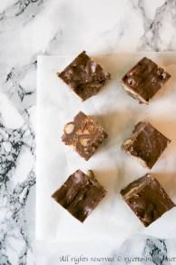 Fudge al cioccolato e biscotti bimby