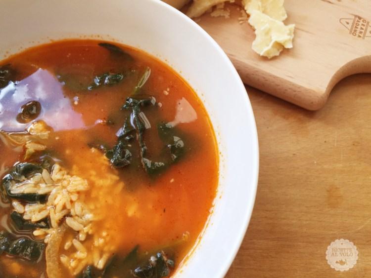 Minestra di riso e spinaci