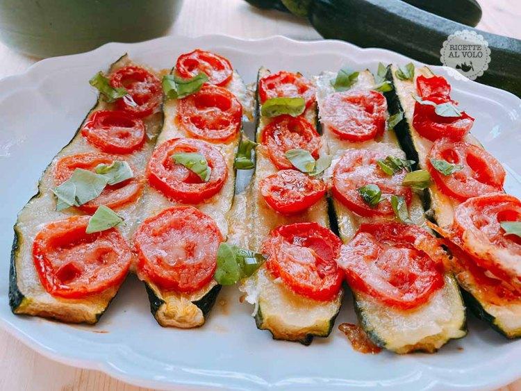 Zucchine pizza al forno