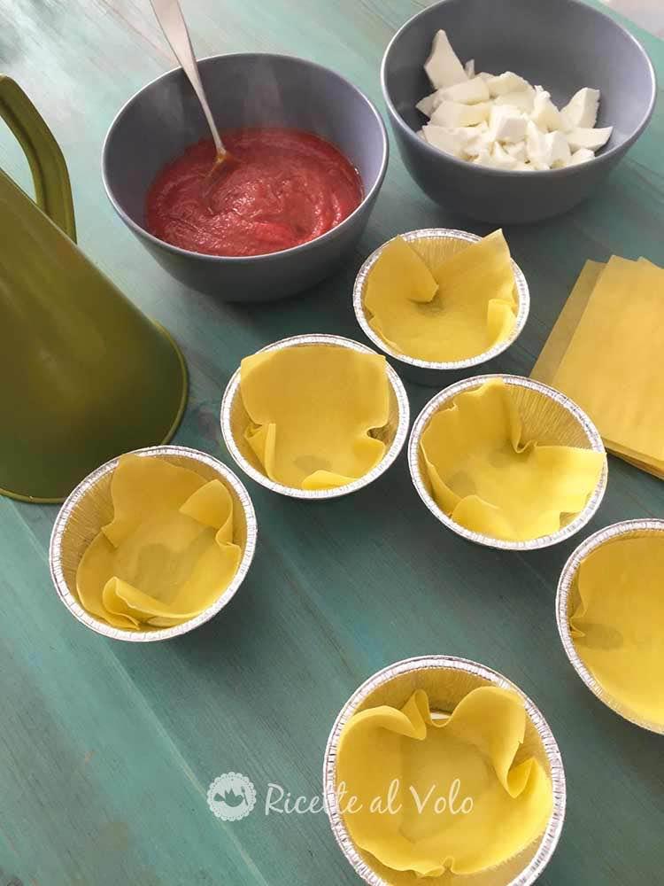 mini lasagne monoporzione