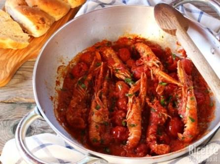 Scampi alla busara, ricetta semplice RicetteDalMondo.it