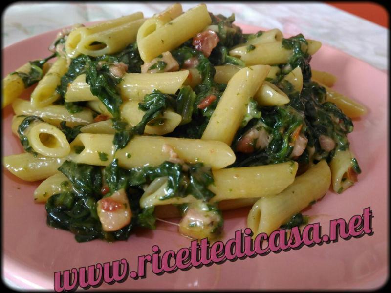 Penne Spinaci e Pancetta