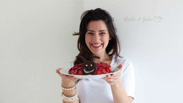 torta coccinella fragole di ricette di gabri