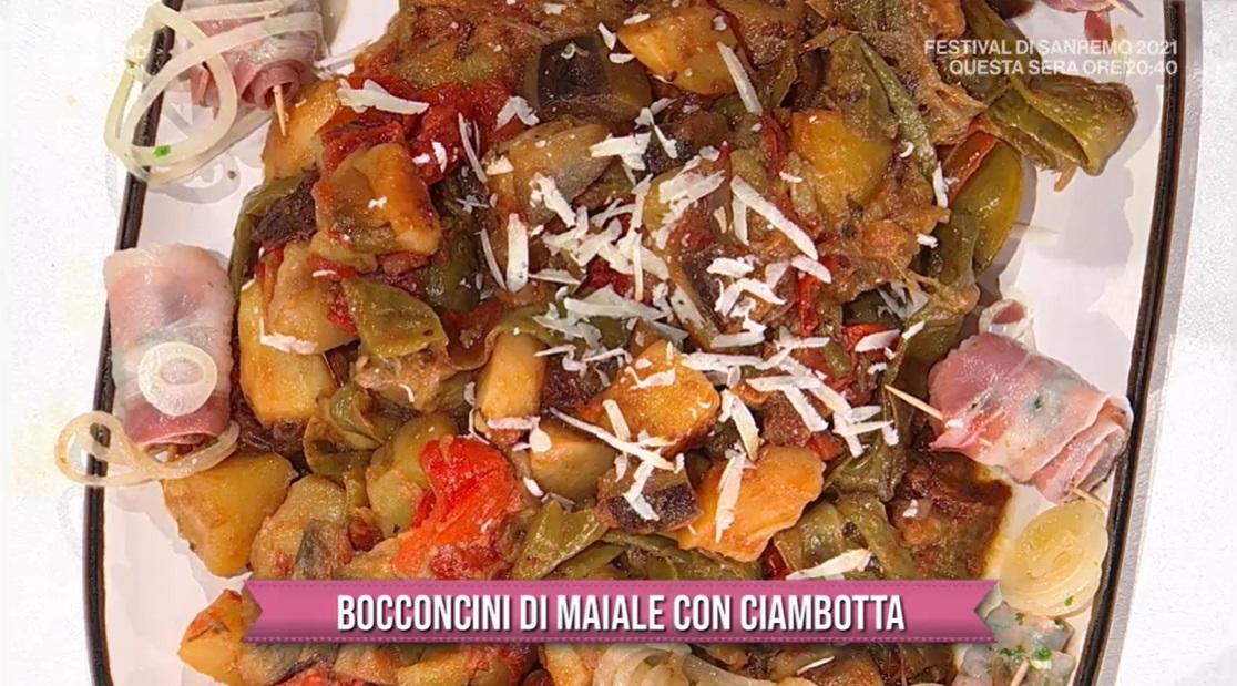 bocconcini di maiale con Ciambotta di Carmine D'Elia