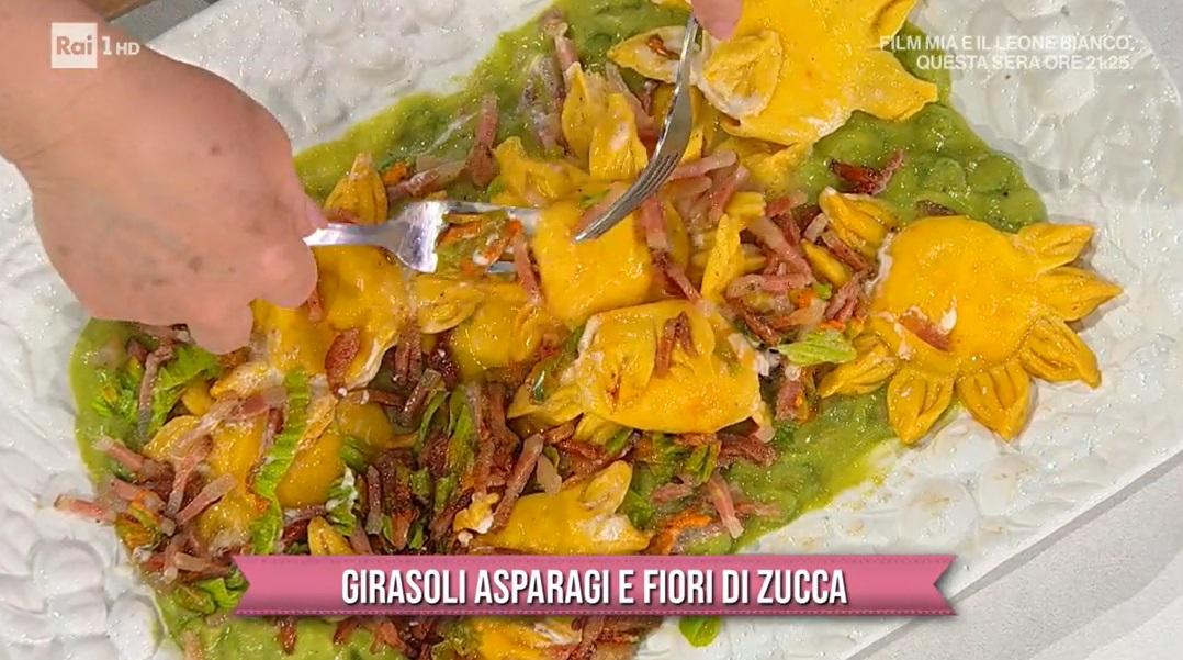 girasoli asparagi e fiori di zucca di zia Cri