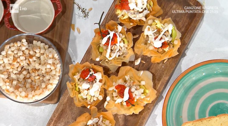 cestini croccanti con insalata di tacchino di Daniele Persegani