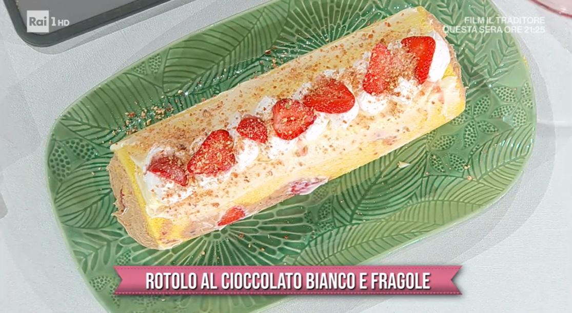 rotolo al cioccolato bianco e fragole  di Chloe Facchini