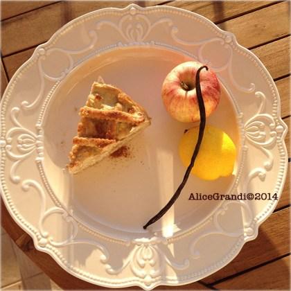 crostata crema mele vegan custard apple tart